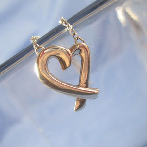 """Sterling Silver LOVING HEART Style 18"""" Necklace"""